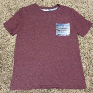 PacSun Pocket T-Shirt Size Large Maroon